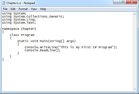 Using Notepad