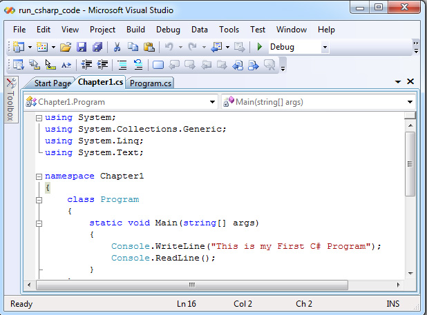 Using Visual Studio