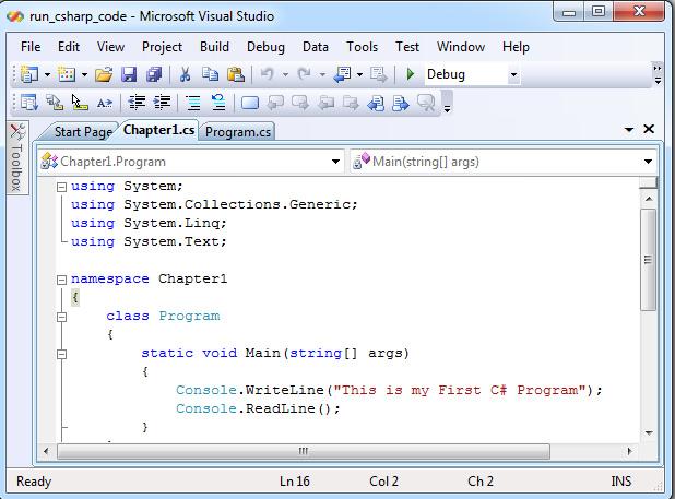 Using Visual Studio