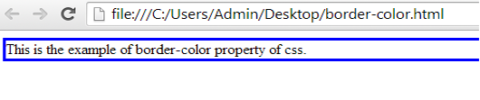 example of border-color property