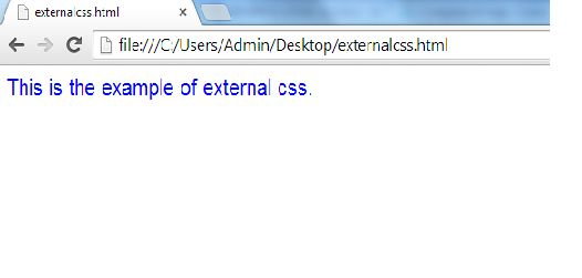 example of external CSS