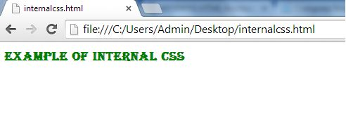 example of internal css