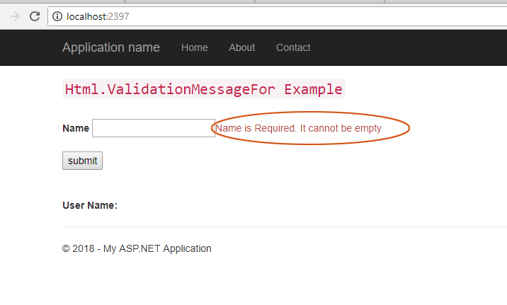 Html Validation For