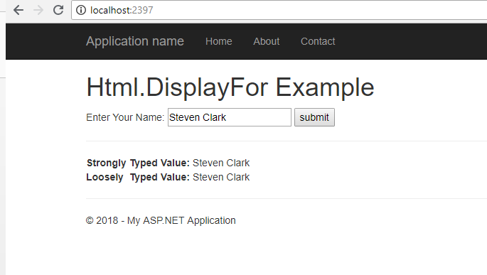 Html.Display Example