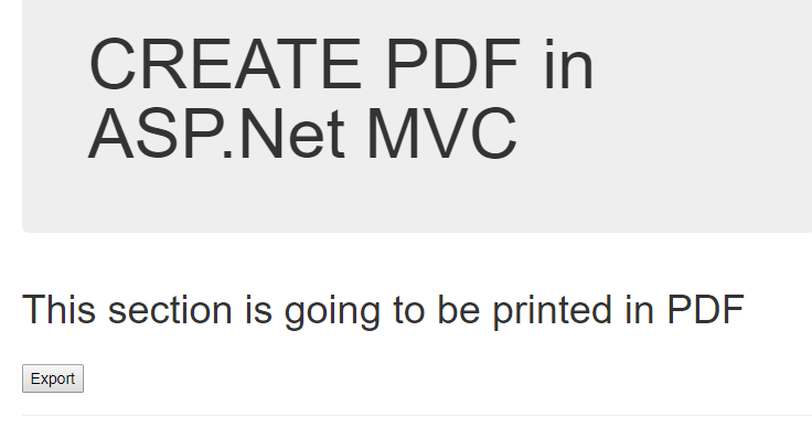 Create and Download PDF in ASP NET MVC5