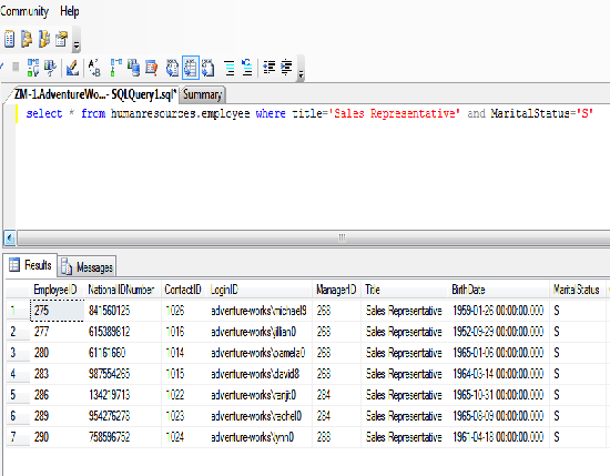 example of and statemant