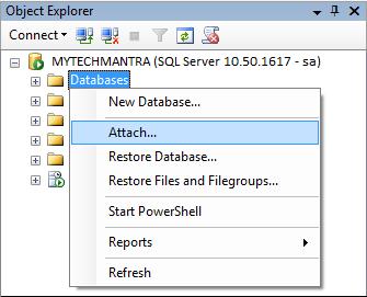 attach database 1