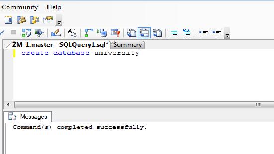 create database output