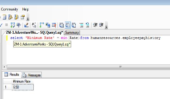 function min()