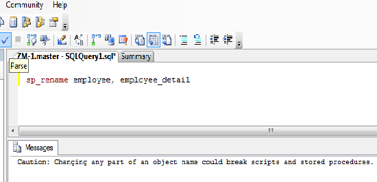 rename table example