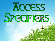 access-specifiers
