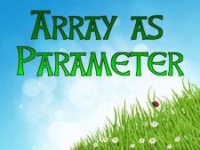 array-as-parameter