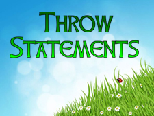 throw-statements