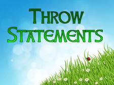 throw-statements