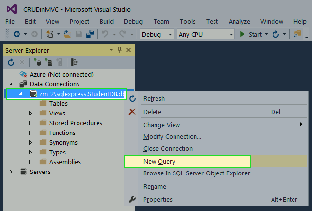 InsertUpdateDelete in ASP NET MVC 5 without Entity Framework