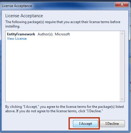 Install Entity Framework