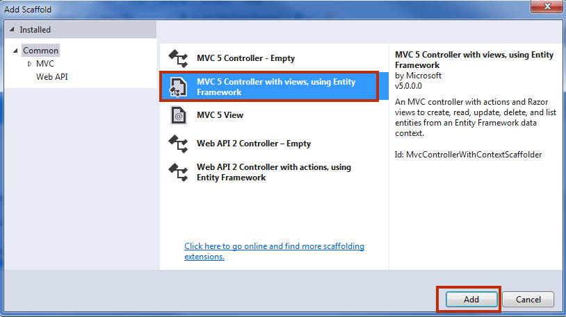 MVC 5 with Entity Framework 6