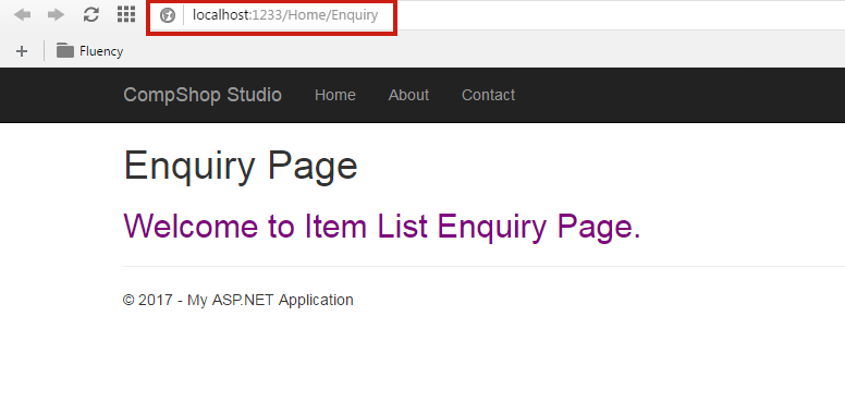 Enquiry View Page