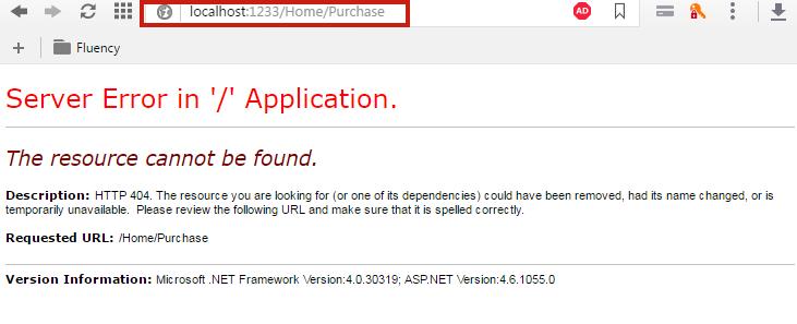 MVC Server Error Page